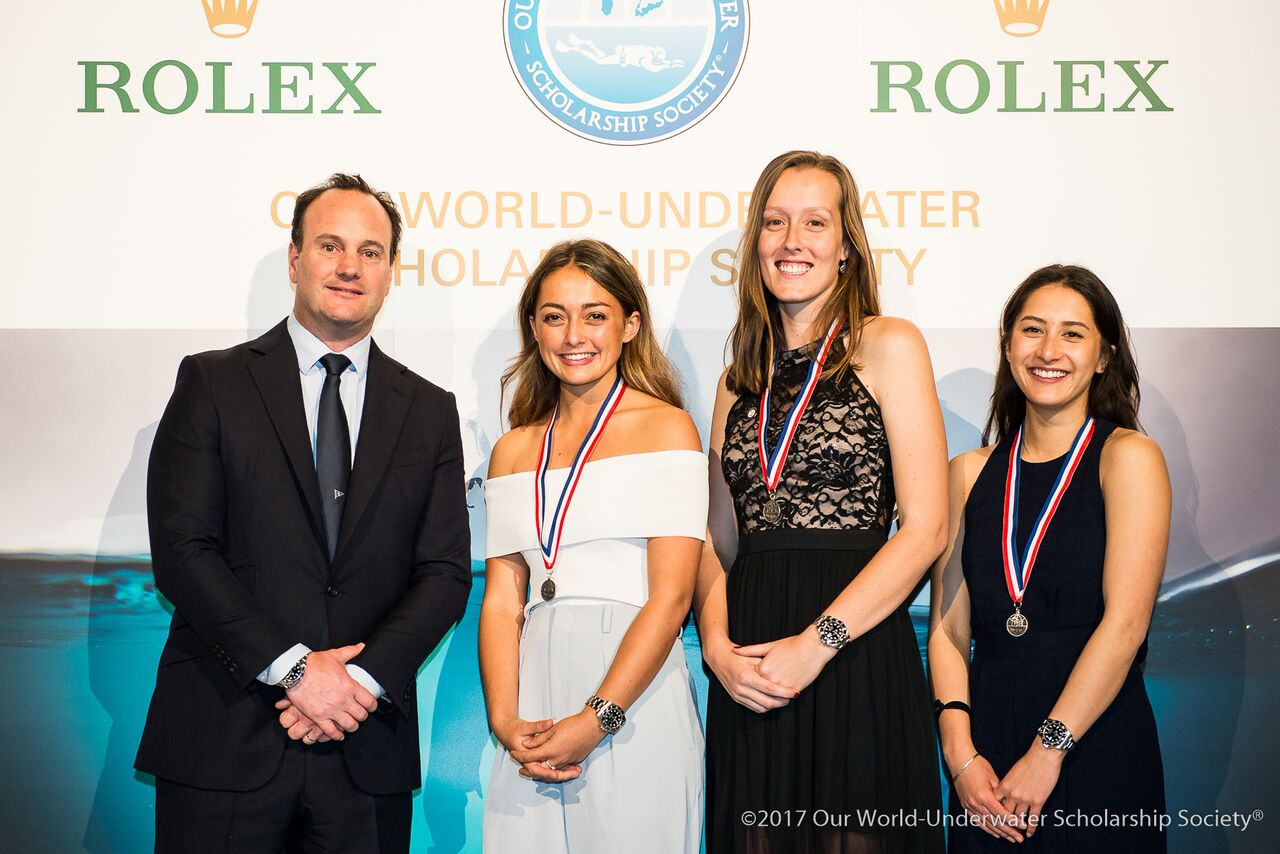 2017 Rolex Scholars with Lionel Scuhurch from Rolex Geneva