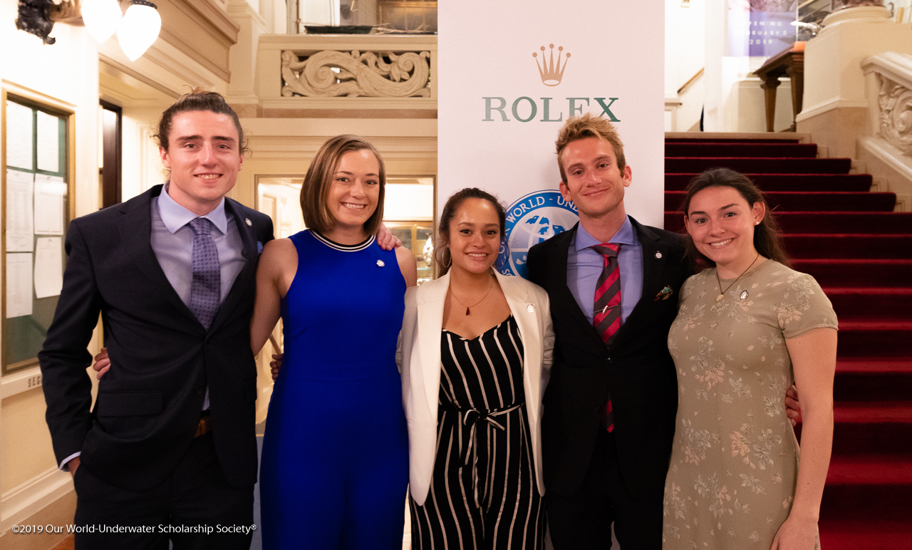 Our World Underwater Scholarship Society 2019 Interns at the New York Yacht Club