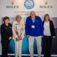 Glen attending one of the Our World-Underwater Scholarship Society annual events