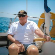 Glen loved all elements of the water - sailing included